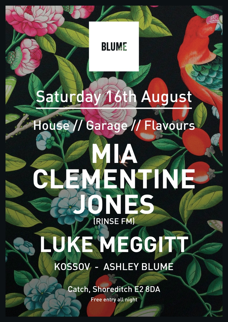 A3 Blume London August Poster