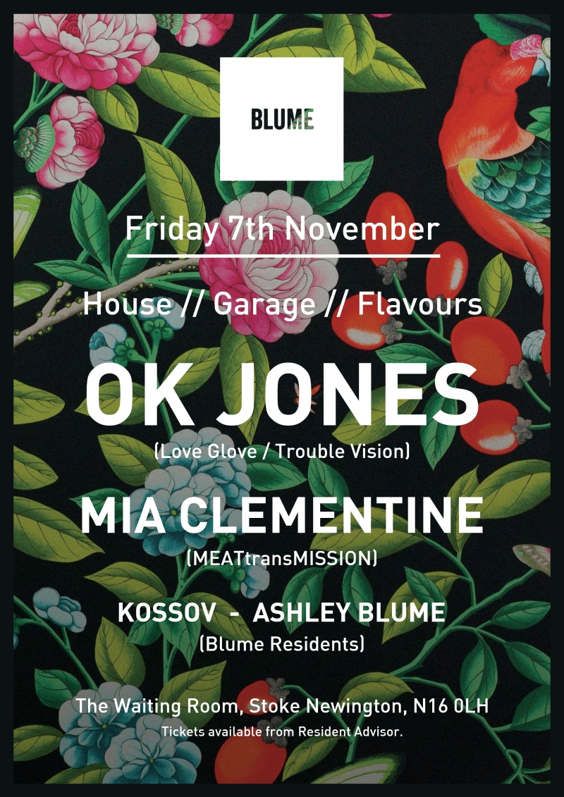 A3 Blume London November Poster waiting room